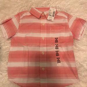 NWT Boys short sleeve shirt